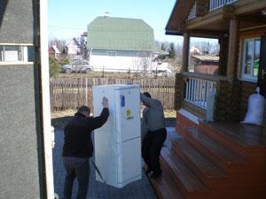перевозка холодильника на дачу